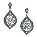 grey diamond earrings by alishan