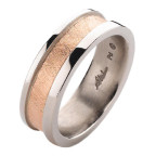 allusion rose gold mens ring