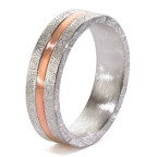 mixed metal mens ring by alishan