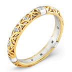 yellow gold wedding band by alishan
