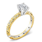 yellow gold diamond engagement ring by alishan