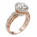 rose gold and white gold engagement ring by alishan