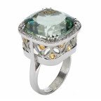 antique cushion shape ring by allusion