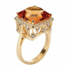 brazilian citrine and diamond ring by allusion