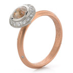 rose gold halo engagement rign